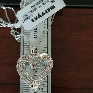 Jewelry - 1/2ct diamond heart 10k white gold necklace